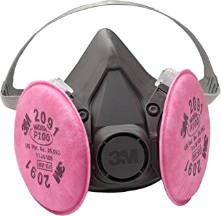 3M Half Facepiece Reusable Respirator Assembly 6391/07003(AAD), Large, P100 Respiratory Protection