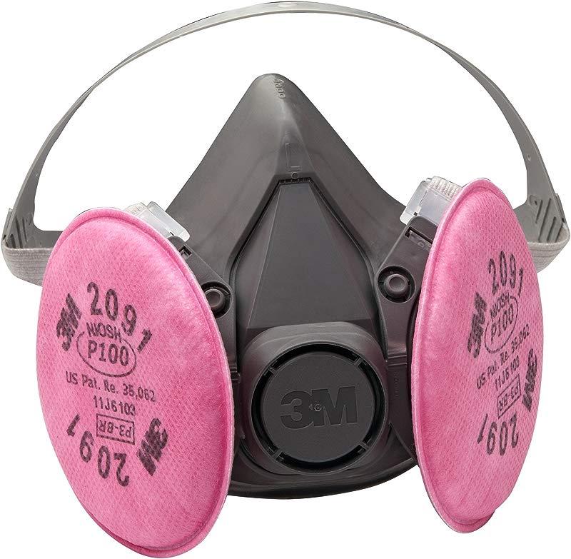 3M Half Facepiece Reusable Respirator Assembly 6391 07003 AAD Large P100 Respiratory Protection