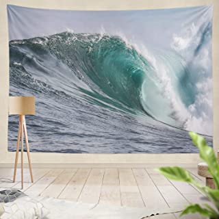 Summor Tapestry Waves Water Sea Waves Wave Surf Town Colour Waves Waves Waves Waves South Africa Surf Spot Hanging Tapestries 60 X 80 Inch Wall Hanging Decor for Bedroom Livingroom Dorm
