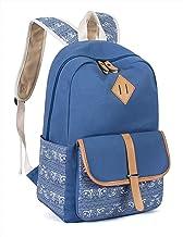 Leaper Cute Canvas Backpack for Girls School Bag Travel Daypack Light Blue 8812