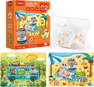 Mideer Level Up Jigsaw Puzzles for Kids Ages 2-3,Toddler Puzzles for Children,Pre School Learning Games,Premium Educationa...