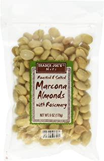 Trader Joe`s Roasted and Salted Marcona Almonds with Rosemary Net Wt. 6oz. (170g)