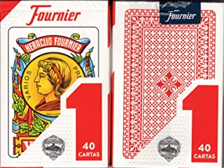 Fournier 1-40 Spanish Playing Cards (Red)