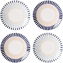 Kate SPADE Brook Lane - Juego de platos de cocina (4 piezas, 0,8 kg), color azul