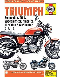 i5motorcycle 2001-2015 Triumph Bonneville T100 America Speedmaster Thruxton Scrambler Haynes Repair Manual 4364