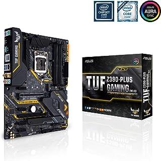 ASUS TUF Z390-PLUS GAMING (Wi-Fi) - Placa base Gaming ATX Intel de 8a y 9a gen. LGA1151 con OptiMem II, iluminación Aura RGB, DDR4 4266+ MHz, M.2 a 32 Gbps, Wi-Fi AC, BT 5.0 USB 3.1 Gen. 2 nativo