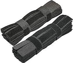 60PCS Reusable Cable Ties Travel Wire & Cord Straps Organizer Under Desk Cable Management for Computer/PC/Laptop/TV/Electr...