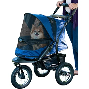Pet Gear No-Zip Jogger Pet Stroller for Cats/Dogs, Zipperless Entry, Easy One-Hand Fold, Cup Holder + Storage Basket