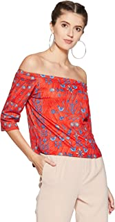 global desi Women's Animal Print Regular Fit Top