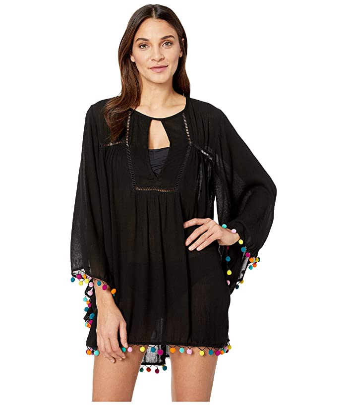 Nanette Lepore Jazzy Covers Open Back Tunic Cover-Up (Black) Women
