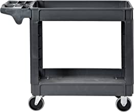 Sandusky Lee PUC174033-2 Heavy-Duty Plastic Utility Cart, 2 Shelves, 33