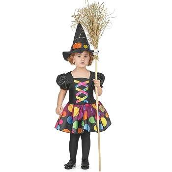 Disfraz de bruja multicolor niña: Amazon.es: Juguetes y juegos