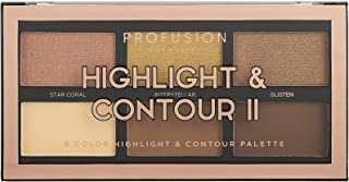 Profusion Cosmetics Mini Artistry Highlight & Contour II Palette - Medium Dark
