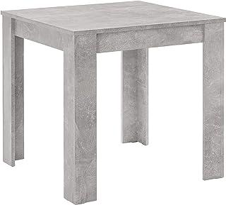 Woodfurniture Table de salle à manger couleur béton pour 4 personnes 80 x 80 x 75 cm