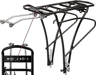 Europa P4B VR portaequipajes para Parte Delantera para Montaje en Rueda Delantera de Acero Negro Lacado con Madera
