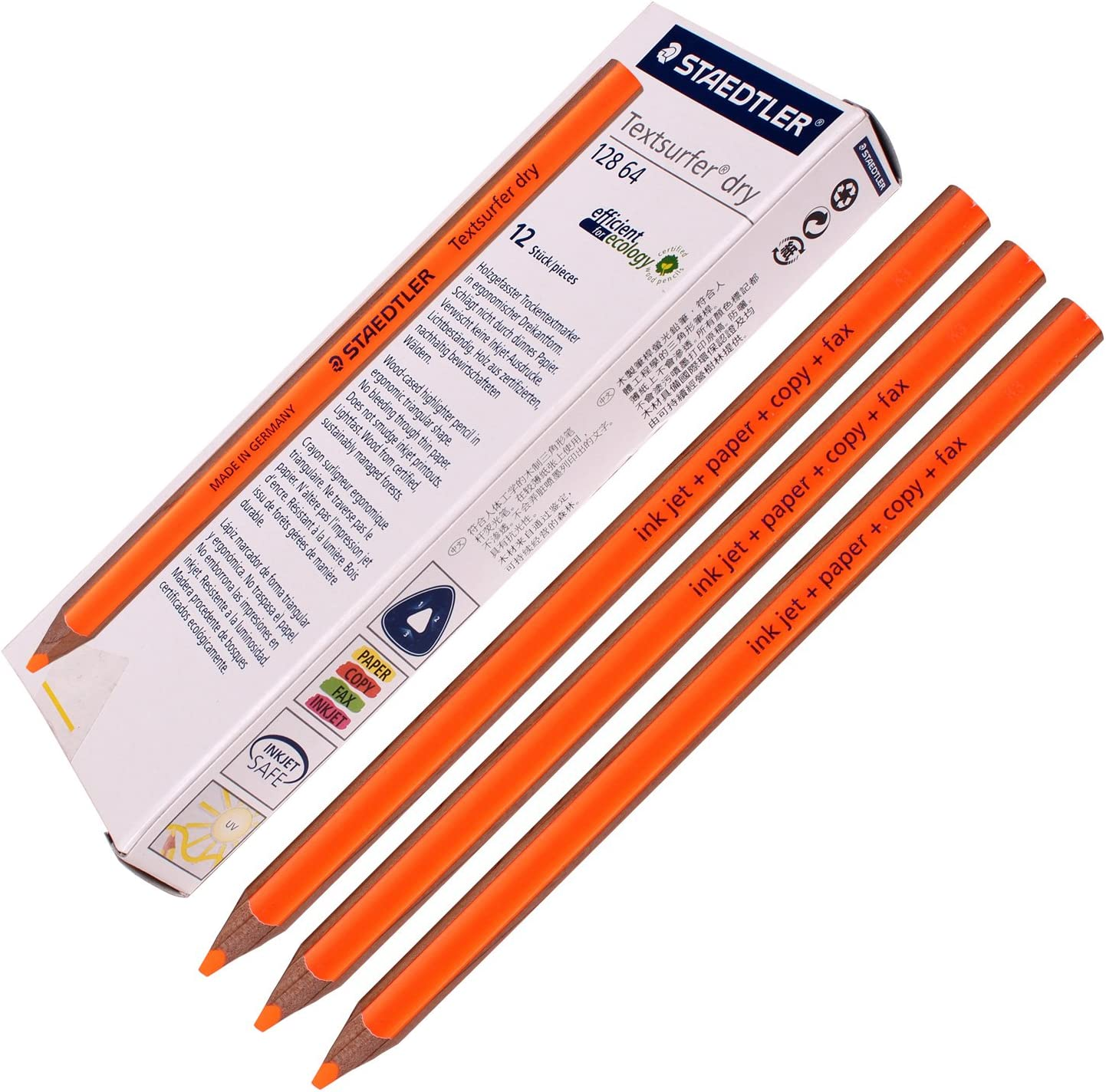 Staedtler Textsurfer Dry Atlanta Mall Highlighter OFFicial Pencil 64 128 Drawing W for
