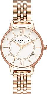 Olivia Burton Women's Quartz Watch, Analog Display and Stainless Steel Strap OB16WD70