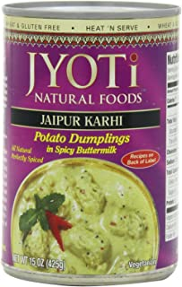 Jaipur Karhi, Organic Potato Dumplings in Spicy Buttermilk Sauce, 425 Gram Cans, (Pack of 12)