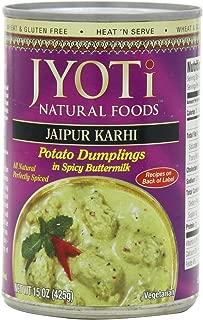 Jaipur Karhi, Organic Potato Dumplings in Spicy Buttermilk Sauce, 425 Gram Cans, (Pack of 12)
