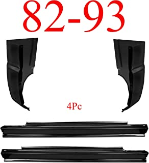 82-93 Chevy S10 4Pc Slip-On Rocker & Cab Corner