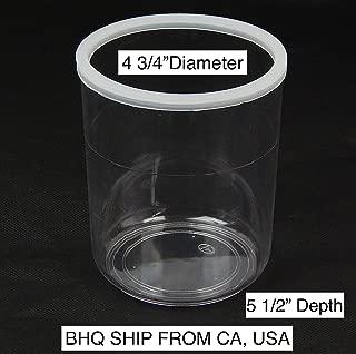 Facial Steamer Jar - High Temperature Plastic PC Jar (4 1/2
