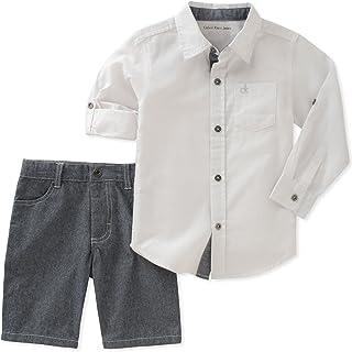 Calvin Klein juego short y camisa para bebe