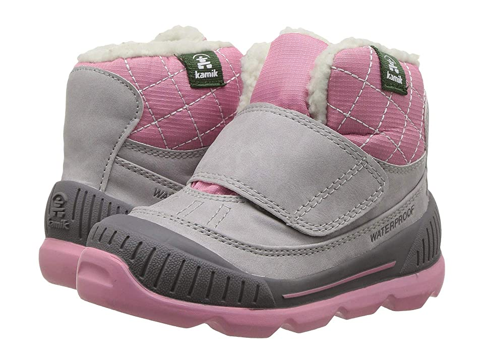 Kamik Kids Sawyer (Toddler) (Light Grey) Girls Shoes