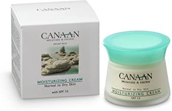 CANAAN Hydrating Face Cream Moisturizer - Dead Sea Day Cream, 1.7 fl oz, Natural Hydrating Face Moisturizer For Younger Looking Skin