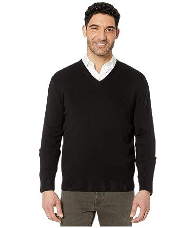 Calvin Klein Cotton Modal Long Sleeve V-Neck (Black) Men
