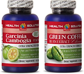 Weight Loss Women - Garcinia CAMBOGIA - Green Coffee Cleanse - Combo - Green Coffee Beans - (2 Bottles Combo)