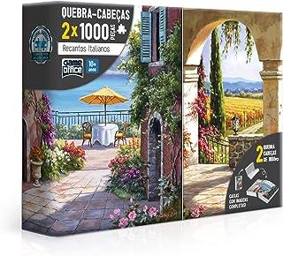 Combo: 2x Quebra Cabeça 1000 peças - Recantos Italianos - Toscana e Vinha Italiana