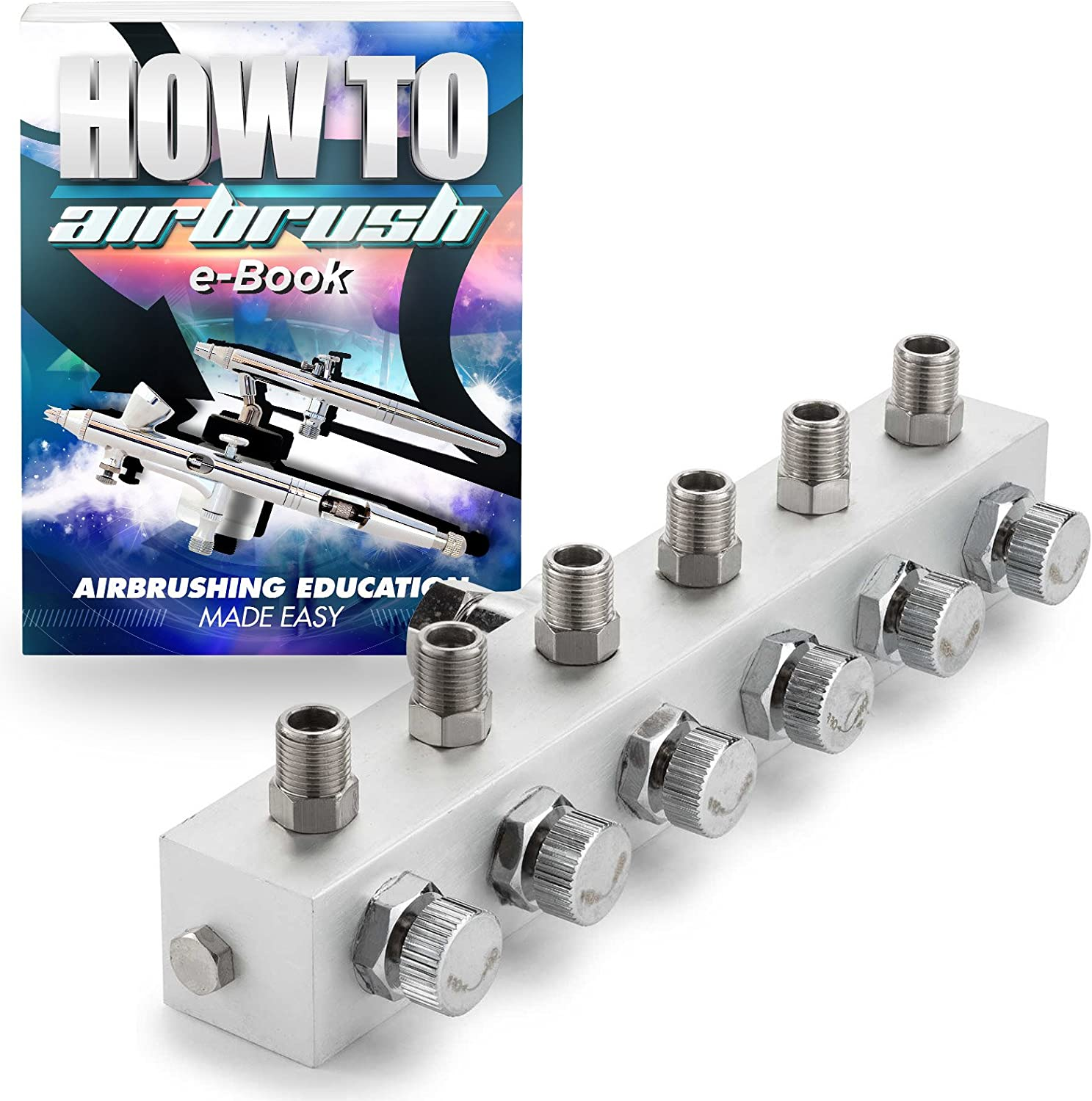 Braided Air Hose Essential Airbrush Accessories Kit Including 6 ft Mini Inline Filter Coupler /& Splitter Manifold Quick Disconnect