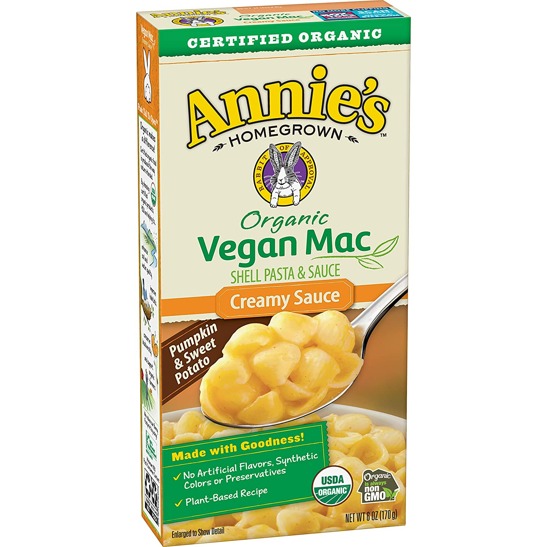Annie's Organic Vegan Mac, Creamy Sauce, 6 oz. Box