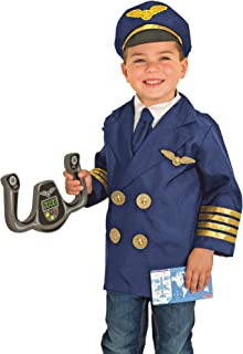 Melissa & Doug Pilot Role Play Costume Set (Dress-Up Pretend Play, 6 Pieces, Great Gift for Girls and Boys - Best for 3, 4, 5, and 6 Year Olds)