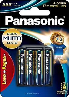 Pilha Alcalina Premium Panasonic AAA com 06 unidades