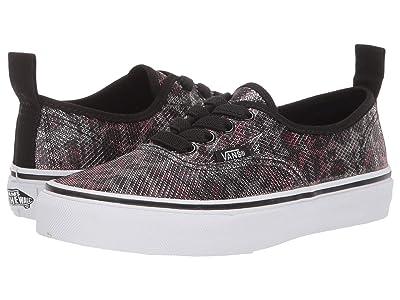 Vans Kids Authentic Elastic Lace (Little Kid/Big Kid) ((Leopard Mesh) Black) Girls Shoes