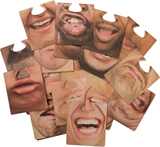 Hilarious Face Mask Drink Coasters, Novelty Party Favors - 20 Pack
