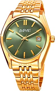 August Steiner Women's Quartz Watch with Stainless-Steel Strap, Gold, 19 (Model: AS8235YGGN)