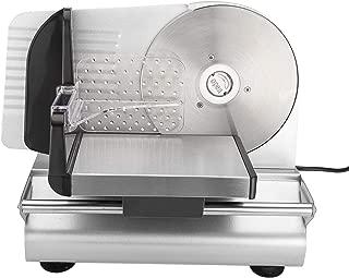 Hanchen 電動フードスライサー 半自動式 ハム/ベーコン/すき焼/しゃぶしゃぶ/果物/野菜/パン/チーズなどをスライス ステンレス製回転鋼刃 家庭用 業務用 (110V)
