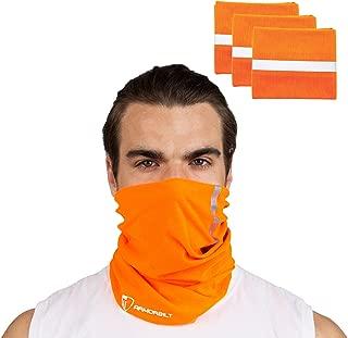 Armorbilt High Visibility Reflective Safety Face Clothing - Neck Gaiter, Bandana Dust Mask, Sun Shade Shield, Multifunctional Headwear (Orange)