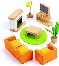 Hape Wooden Doll House Furniture Media Room Set