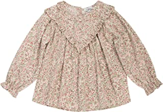 Girls Long Sleeve Floral T-Shirt Casual Cotton Blouse...