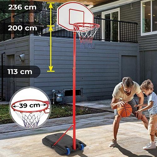 72-200cm Verstellbar Kinder Basketball Basketballkorb Basketballständer Pumpe