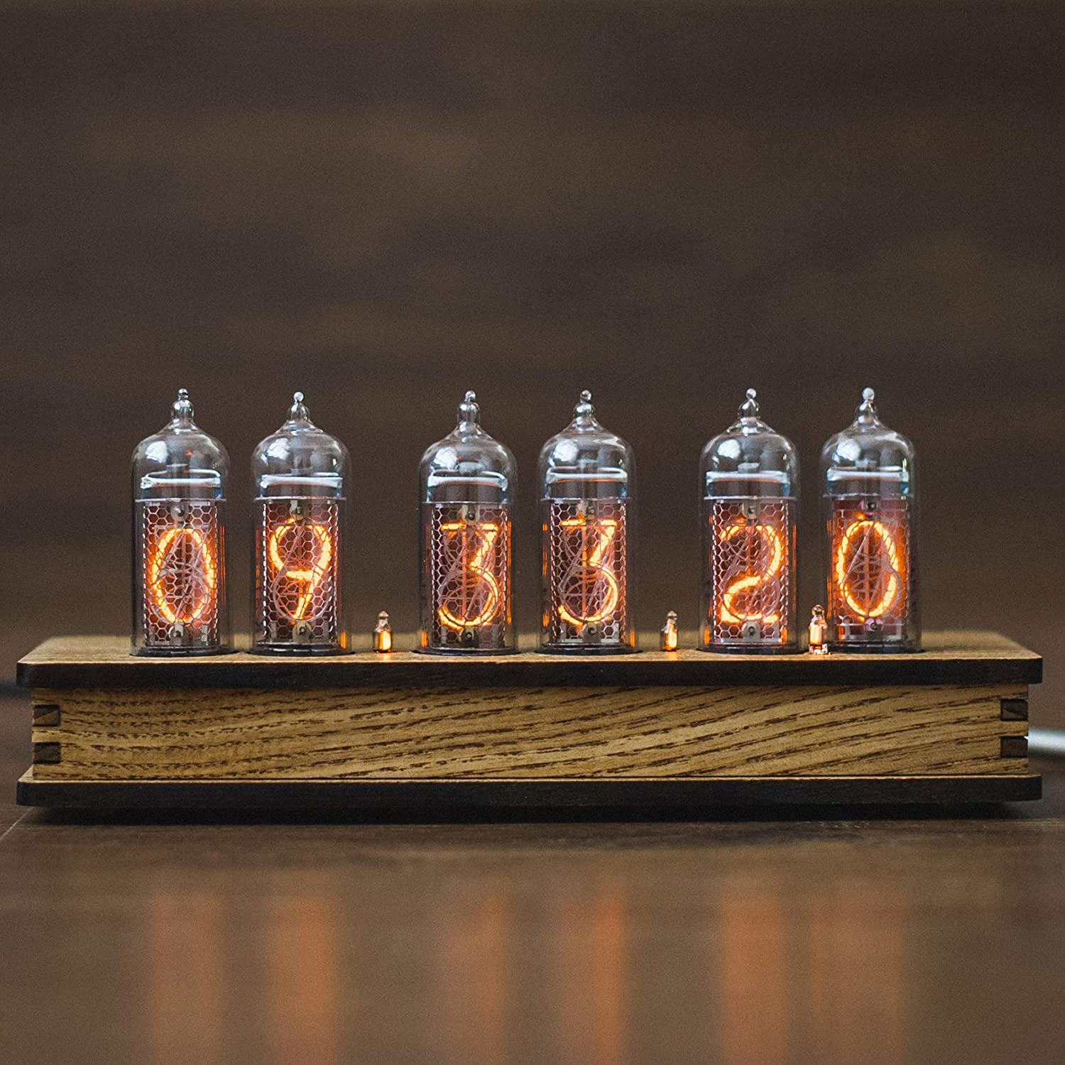 Nixie Tube Clock 6X IN-14 Olive Tubes Cheap Cas Ash Replaceable Easy-to-use