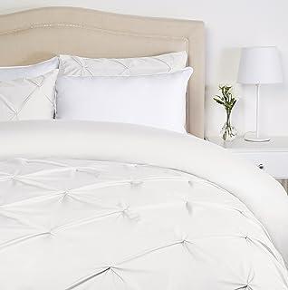 comprar comparacion Pinzon - Juego de funda de edredón plisada - 220 x 250 cm - Blanco