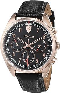Ferrari Mens Quartz Watch, Chronograph Display and Leather Strap 830570