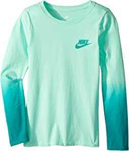Nike Kids - Sportswear Dip-Dye Long Sleeve Shirt (Little Kids/Big Kids)