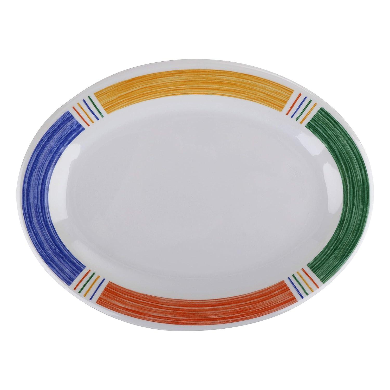 GET OP-950-BA Melamine Oval Serving Plate 5% OFF Platter 5 ☆ popular Dinner 9.75