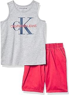 Calvin Klein Baby Boys' 2 Pieces Muscle Shorts Set