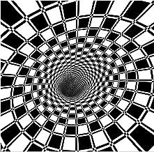 3D Black and White Printed Household Carpets, Optical Illusion Geometric Living Room Rug, Non-Slip Washable Floor Mat,B,12...